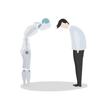 Illustration of robot vector graphic