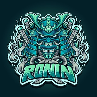 Illustration of ronin samurai