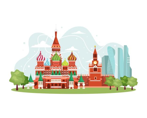 Illustration russia landmark