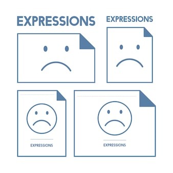 Illustration of sad emotion