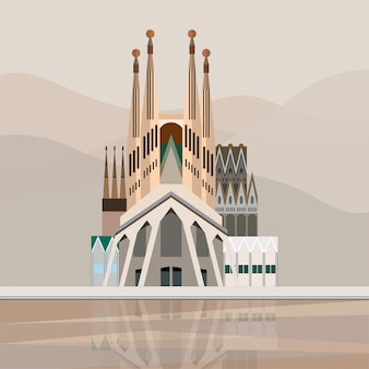 Illustration of sagrada família