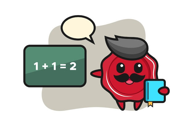 Illustration of sealing wax character as a teacher