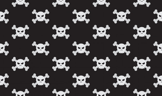 Illustration seamless skulls and crossbones