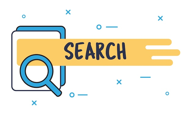 Illustration of search box