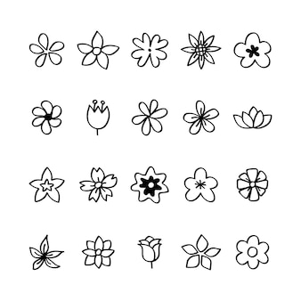 Flower Doodle Vectors, Photos and PSD files | Free Download