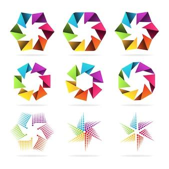 抽象的な記号のイラストセット、フォーマットeps 10