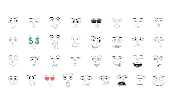 Illustration set of emotion