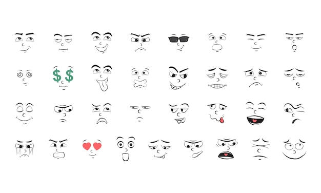 Иллюстрация набор эмоций