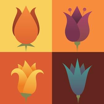 Иллюстрация набор цветов