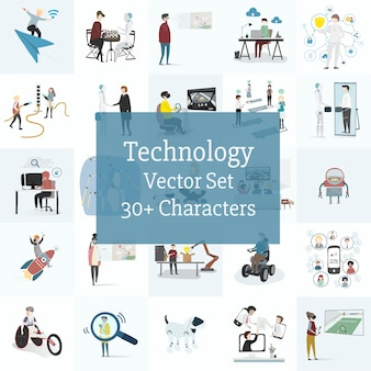 Illustration set of human avatar vector