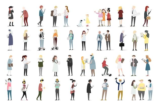 Иллюстрация набора изображений аватара человека