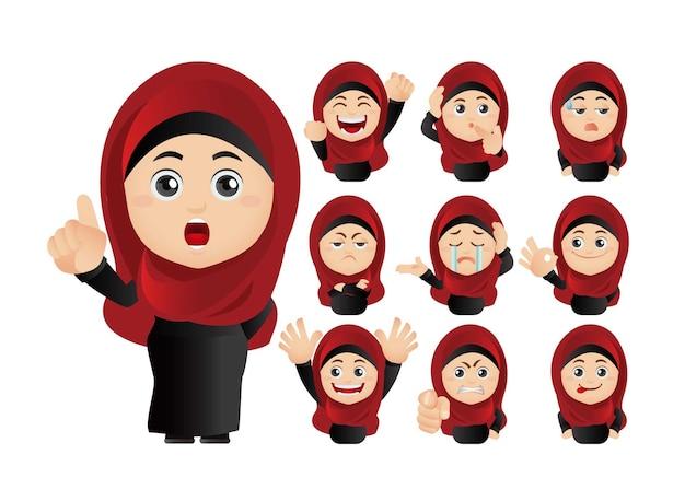 이슬람 아바타의 그림 세트