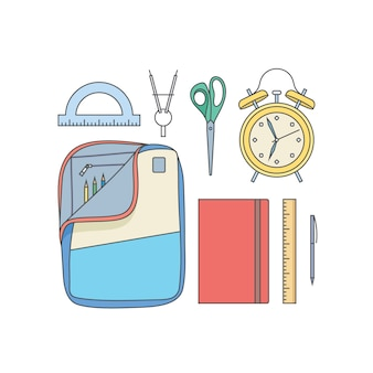 Набор иллюстраций школы