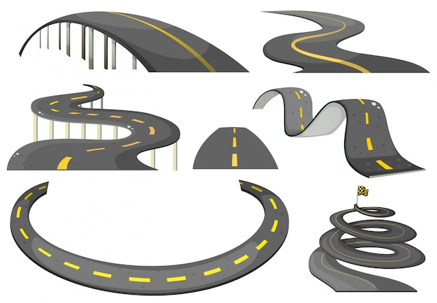 Illustration of a set of roads