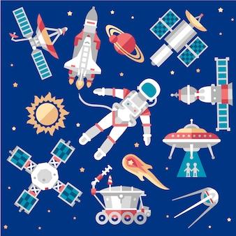 Illustration set on space