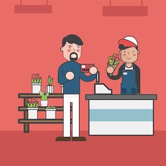 Illustration set of supermarket vector