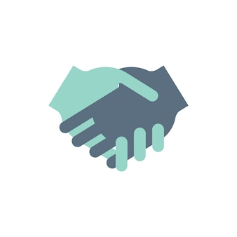 Illustration of shaking hands agreement