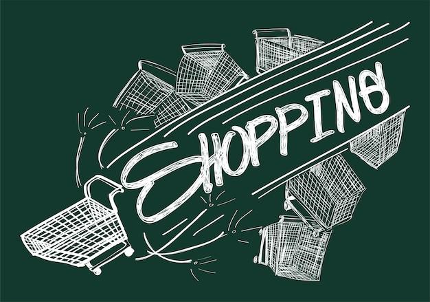 Illustration of shopping online