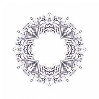 Illustration of simple mandala art design