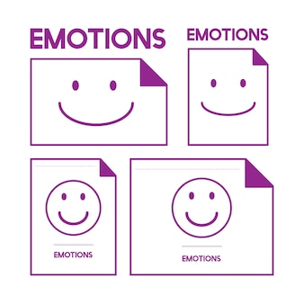 Illustration of smiling emotion