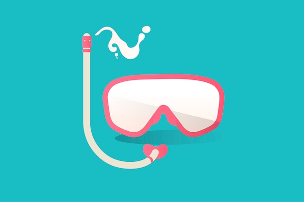Illustration of snorkel icon on blue background