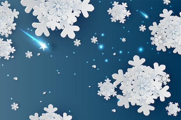 Illustration of snowflakes for winter season