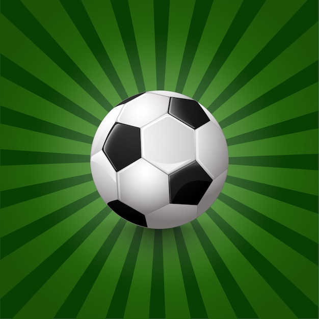 Illustration of soccer ball on background