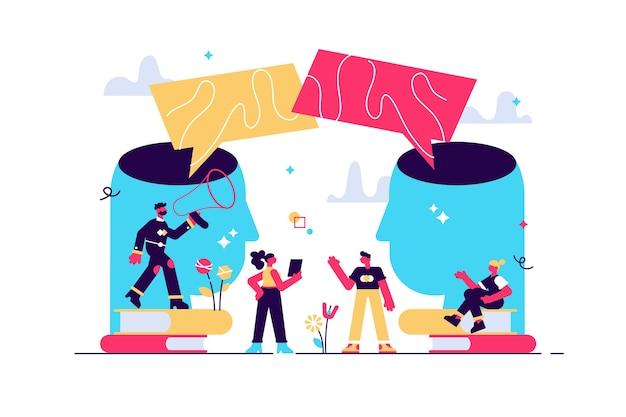Illustration of social communication