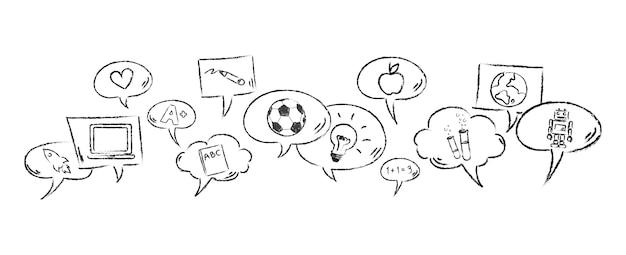 Illustrazione del concetto di social media