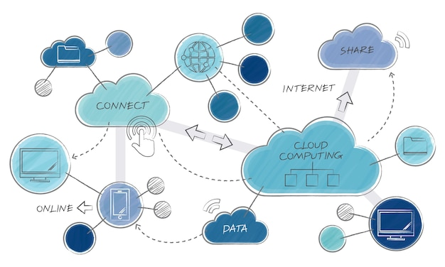 Illustration of social media concept