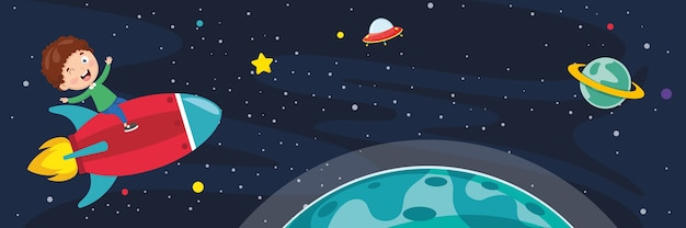 Illustration of space background