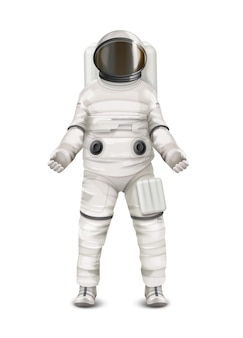 Illustration of space suit for astronaut