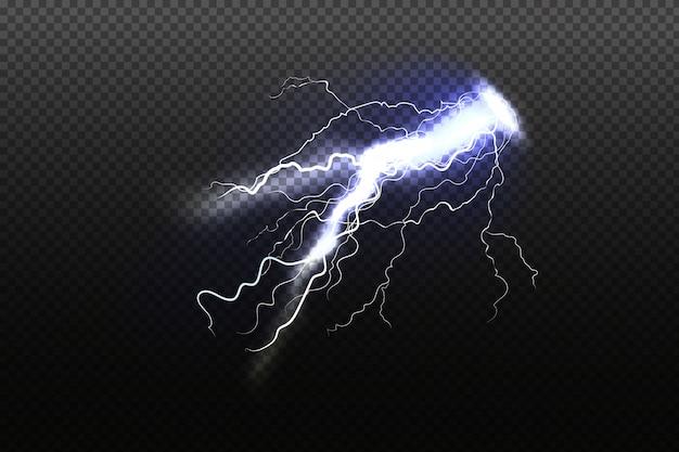輝く稲妻暗い空の背景のイラスト雷雨悪天候の概念