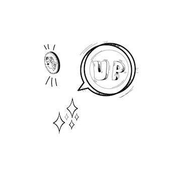 Illustration of startup business doodle
