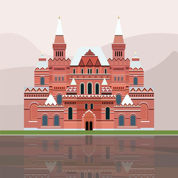Illustration of the state historical museum of russia
