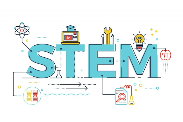 Illustration of stem - science, technology, engineering, mathematics