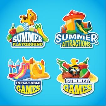 Illustration of summer labels