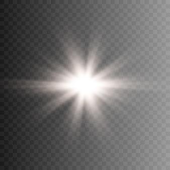 イラスト日光または星明かり