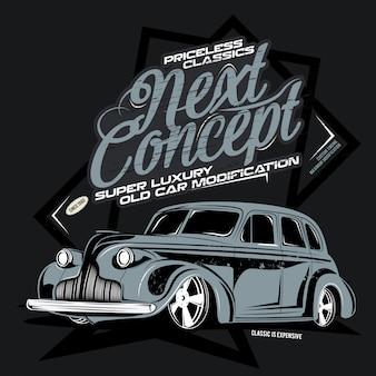 Next , illustration of super luxury classic car