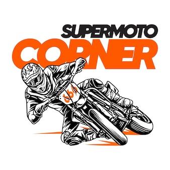 Иллюстрация supermoto corner