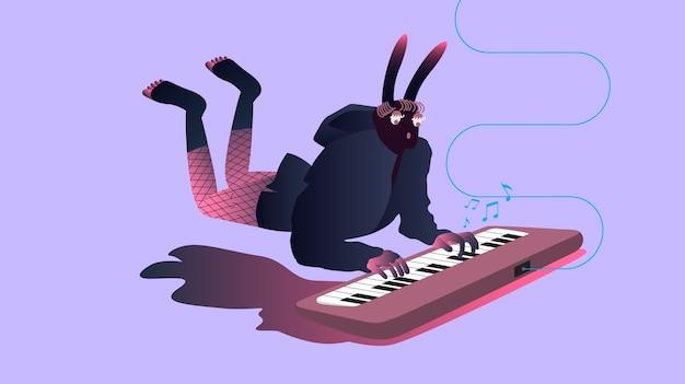 Illustrazione di musicisti surreali