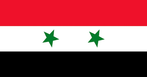 Illustration of syria flag