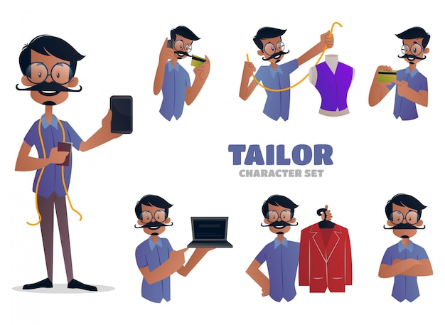 Illustration of tailor character set