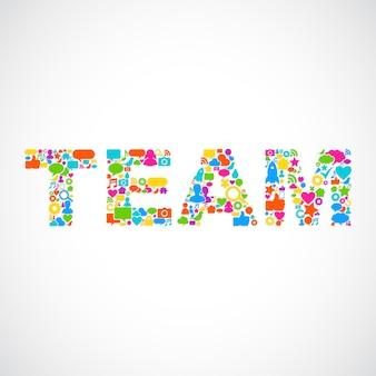 Illustration of teamwork