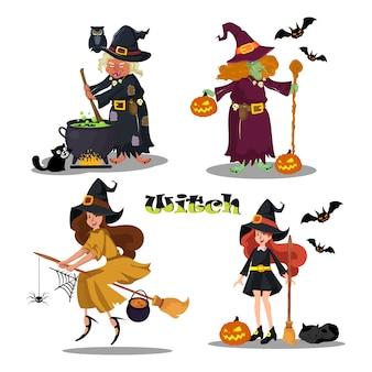 Illustration template of holloween girl vector