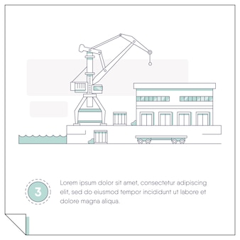 Illustration on the theme of construction and logistics
