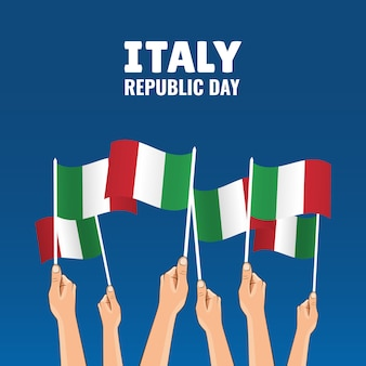Illustration on the theme republic day italy