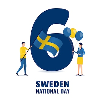 Illustration on the theme sweden national day