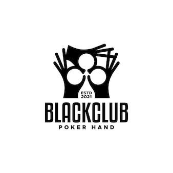Illustration of a three hands forming a clubshaped good for any businessrelated to a poker game