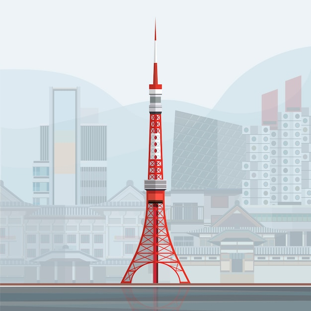 Illustration of tokyo tower